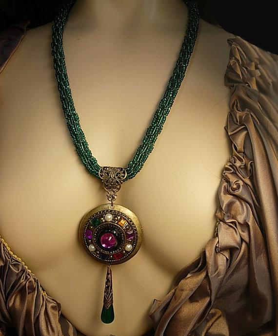 Vintage Flapper necklace meets a Gypsy pendant