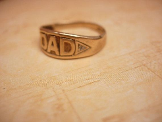 Vintage 10kt Gold DAD Ring Fathers Day Birthday