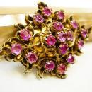 ANtique Ruby Brooch 13cts 1880 period piece Rare beauty