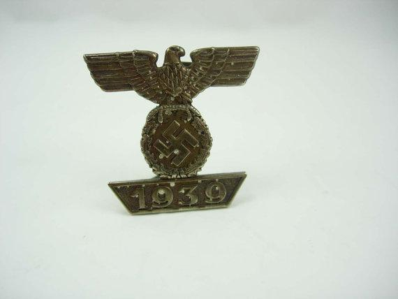 Vintage Iron Eagle Badge Pin WWII German Bar Iron Cross 1939 2nd Class Signed 6