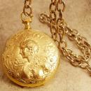 Minerva GOddess pocketwatch Locket Watch chain necklace hidden compartment