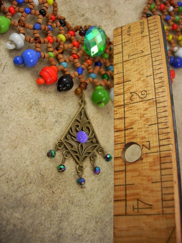 Bohemian Fringe Necklace Collar bib Choker Rhinestones fringe drop