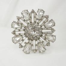 Vintage Rhinestone  brooch  unsigned  WEISS PURE Glitz PURE brilliance