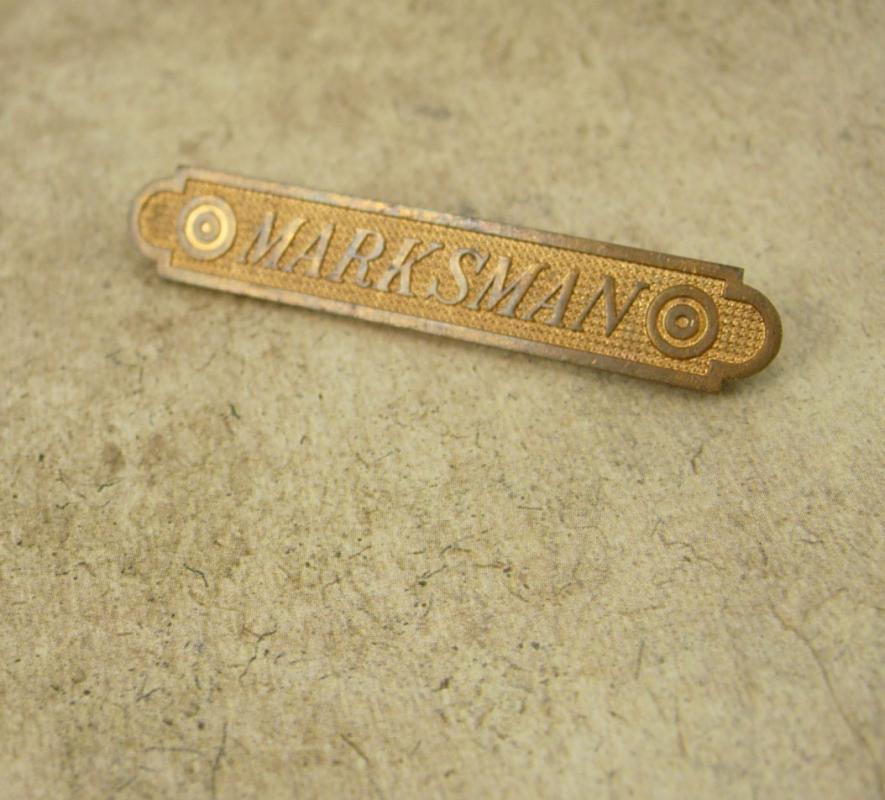 1914-1918 2 Target Marksman pin brooch medal long Medal raised relief