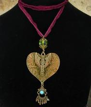 Sacred heart Rosary necklace bohemian chandelier drop