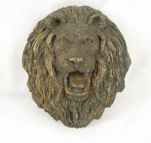 Vintage HUGE IMPRESSIVE Gothic Lion Buckle SIGNED victorian fierce lion
