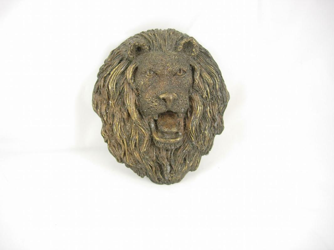 Vintage HUGE IMPRESSIVE Gothic Lion Buckle SIGNED victorian fierce lion
