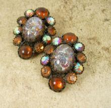 EARLY WEISS dragons breath Rhinestone earrings