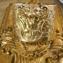 Vintage Lion Bracelet Cuff Victorian Gothic relief ferocious creature