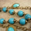 Huge Bohemian Necklace Snake turquoise tassel drops