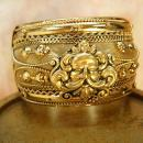 Vintage Bracelet Mythological Zeus with ornate metal work