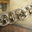Statement necklace Art Nouveau Collar pearl rhinestone dramtic drop pendant