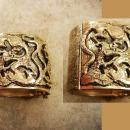 Dragon bracelet Vintage HUGE cuff bangle mythical creatures