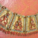 Nepalese Necklace Huge Primitive Egyptian Revival CORAL Goddess wedding  Collar Newari  Kathmandu, Nepal