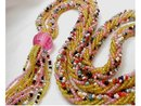 Vintage deco Glass Flapper  tassel necklace