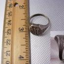 Antique Sterling Miraculous Medal Ring crucifix Jesus Mary