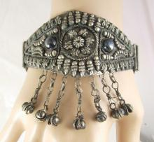 Antique Slave Bracelet with charms & Etruscan work Gypsy Queen 9