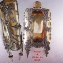 Antique boudoir Clock perfume Art Nouveau Vanity pendulum