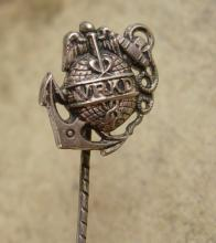 Vintage WW1 Marine Stickpin Globe Anchor Eagle Military insignia