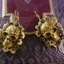 Large Day of the Dead Skull Earrings bizarre Voodoo hoodoo