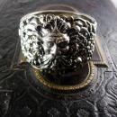Huge Vintage Mythology Bacchus bracelet Art nouveau relief