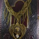 Mystical Medusa Winged fringe necklace statement ooak
