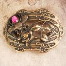 1902 Antique Bee aesthetic Sash buckle pink paste stone