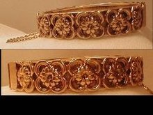 Gorgeous Vintage Layered Art Nouveau hinged bracelet
