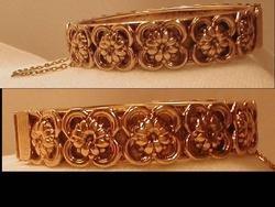Gorgeous Vintage Layered Art Nouveau hinged bracelet