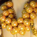 vintage HUGE Runway designer BAUBLE necklace statement piece shoulder duster earrings