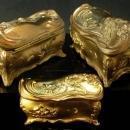 LONG Antique Jewelry casket Coffin box Victorian Dove Bird ornate baroque LARGE Trinket jewelry dresser heirloom vintage chest Ormolu