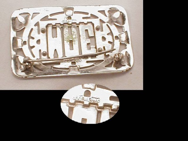 1920's ART DECO MAE WEST sterling OVER 100 Marcasite PURE GLITZ BROOCH