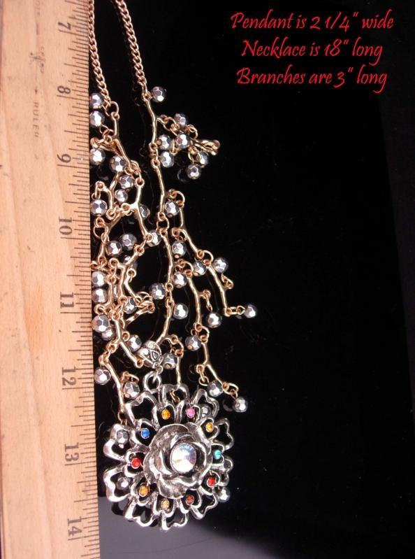 Exotic bib necklace / Rhinestone necklace / medieval theme/ Fit for a Queen / statement jewelry
