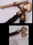 1800's Mourning HAIR watch chain & LOCKET