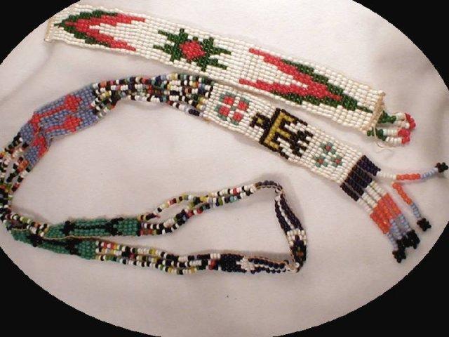 original INDIAN BEADWORK Necklace bracelet