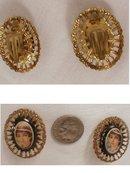 Vintage west German Flapper Clip on Earrings