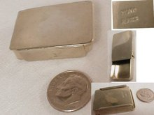 TINY MExican sliding Silver signed stamp case