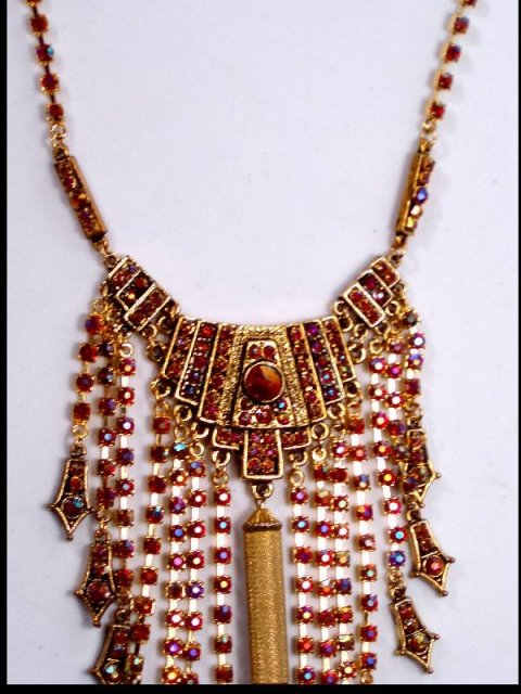 DIVA JEWELED EXOTIC big Dripping Necklace