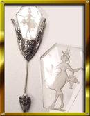 20s DECO Mary Gregory Glass rhinestone stickpin