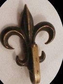 Mid 1800's Fleur DE LIS Chatelaine BROOCH OLD
