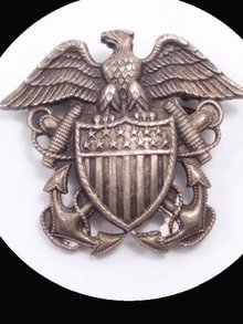 Vintage WW11 CORO brooch Sterling sweetheart EAGLE pin