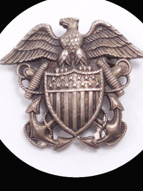 Vintage WW11 CORO brooch Sterling sweetheart EAGLE pin