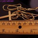 Antique Victorian Cross / 1/20th 14 kt gold filled chain / antique cross / Victorian jewelry / 24