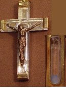OLD FRENCH SIGNEd Lourdes RELIC Rosary Crucifix