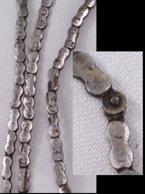 1700's ANTIQUE Clock DRIVE CHAIN TINY LINKS OLD RARE
