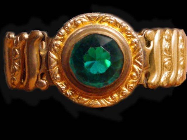 vintage DEco GREEN Jeweled Bracelet bracelet