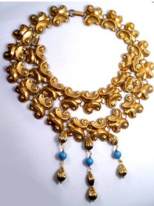 FABULOUS Egyptian REVIVAL PARURE Dangles and