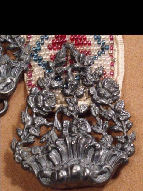 Vintage DECO MICROBEAD GLASS belt