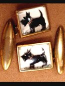 Scottie  rock Crystal WESTMINSTER cufflinks