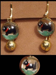 Vintage DOG SHOW westminster Terrier earrings